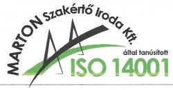 Tanusítvány ISO14001